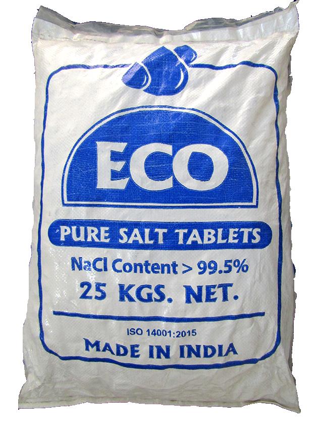 Muối Viên ECO, NaCl 99,5%, 25kg/bao, Ấn Độ